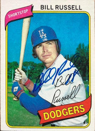 Bill Russell Signed 1980 Topps Baseball Card - Los Angeles Dodgers