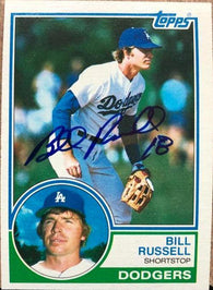 Bill Russell Signed 1983 Topps Baseball Card - Los Angeles Dodgers