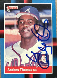 Andres Thomas Signed 1988 Donruss Baseball Card - Atlanta Braves - PastPros