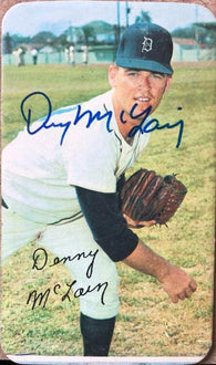 Denny McLain Signed 1970 Topps Super Baseball Card - Detroit Tigers