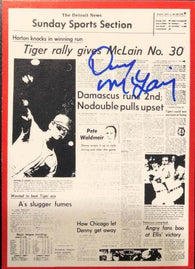 Denny McLain Signed 1981 Detroit News Baseball Card - Detroit Tigers
