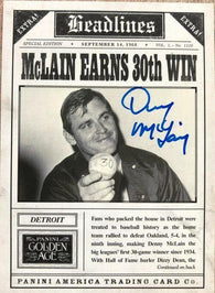 Denny McLain Signed 2013 Panini Golden Age Headlines Baseball Card - Detroit Tigers