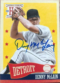 Denny McLain Signed 2013 Panini Hometown Heroes Baseball Card - Detroit Tigers