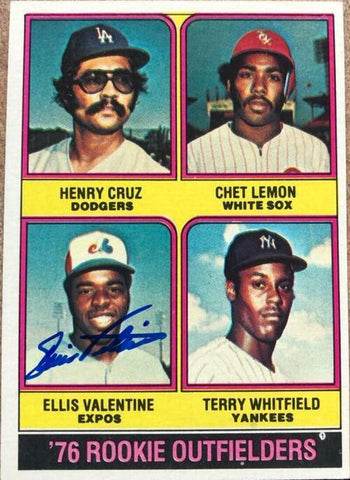 Ellis Valentine Signed 1976 Topps Baseball Card - Rookie Outfielders