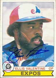 Ellis Valentine Signed 1979 O-Pee-Chee Baseball Card - Montreal Expos