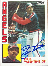 Ellis Valentine Signed 1984 Nestle Baseball Card - California Angels