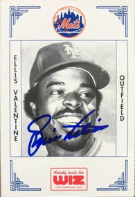 Ellis Valentine Signed 1991 WIZ Baseball Card - New York Mets