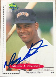 Manny Alexander Signed 1991 Classic Best Baseball Card