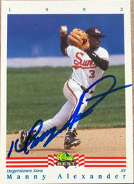 Manny Alexander Signed 1992 Classic Best Baseball Card - Baltimore Orioles