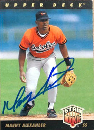 Manny Alexander Signed 1993 Upper Deck Baseball Card - Baltimore Orioles