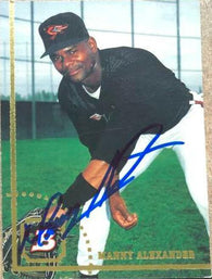 Manny Alexander Signed 1994 Bowman Baseball Card - Baltimore Orioles