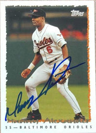 Manny Alexander Signed 1995 Topps Baseball Card - Baltimore Orioles