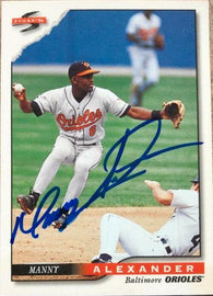 Manny Alexander Signed 1996 Score Baseball Card - Baltimore Orioles