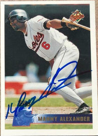 Manny Alexander Signed 1996 Topps Baseball Card - Baltimore Orioles