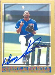 Manny Alexander Signed 1998 Topps Baseball Card - Chicago Cubs