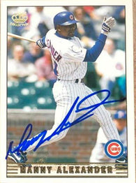 Manny Alexander Signed 1999 Pacific Crown Baseball Card - Chicago Cubs