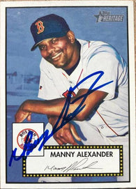 Manny Alexander Signed 2001 Topps Heritage Baseball Card - Boston Red Sox