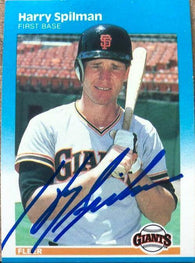 Harry Spilman Signed 1987 Fleer Baseball Card - San Francisco Giants