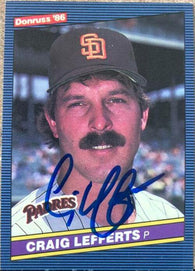 Craig Lefferts Signed 1986 Donruss Baseball Card - San Diego Padres