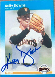Kelly Downs Signed 1987 Fleer Baseball Card - San Francisco Giants