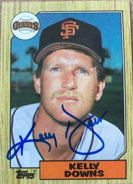 Kelly Downs Signed 1987 Topps Baseball Card - San Francisco Giants