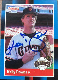 Kelly Downs Signed 1988 Donruss Baseball Card - San Francisco Giants