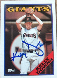Kelly Downs Signed 1988 Topps Baseball Card - San Francisco Giants