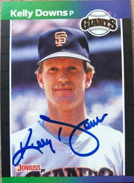 Kelly Downs Signed 1989 Donruss Baseball Card - San Francisco Giants