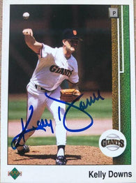 Kelly Downs Signed 1989 Upper Deck Baseball Card - San Francisco Giants
