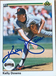Kelly Downs Signed 1990 Upper Deck Baseball Card - San Francisco Giants
