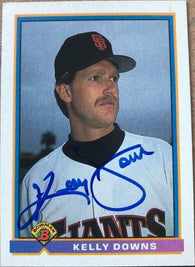 Kelly Downs Signed 1991 Bowman Baseball Card - San Francisco Giants