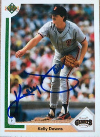 Kelly Downs Signed 1991 Upper Deck Baseball Card - San Francisco Giants