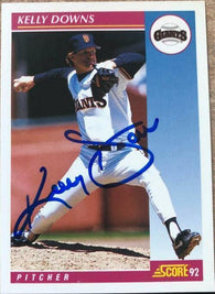 Kelly Downs Signed 1992 Score Baseball Card - San Francisco Giants