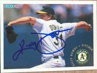 Kelly Downs Signed 1994 Fleer Baseball Card - Oakland A's