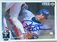 Darrin Fletcher Signed 1994 Collector's Choice Baseball Card - Montreal Expos