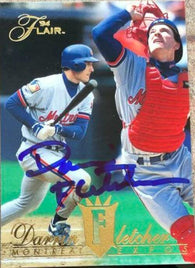 Darrin Fletcher Signed 1994 Flair Baseball Card - Montreal Expos