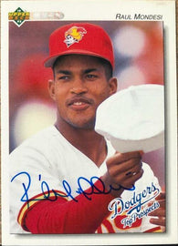 Raul Mondesi Signed 1992 Upper Deck Minors Baseball Card - Los Angeles Dodgers