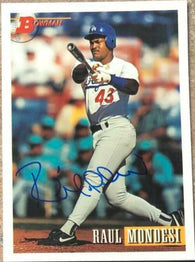 Raul Mondesi Signed 1993 Bowman Baseball Card - Los Angeles Dodgers