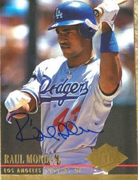 Raul Mondesi Signed 1994 Fleer Ultra Baseball Card - Los Angeles Dodgers
