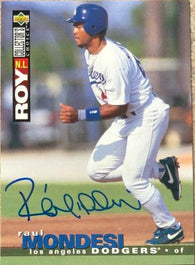 Raul Mondesi Signed 1995 Collector's Choice Baseball Card - Los Angeles Dodgers