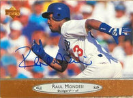 Raul Mondesi Signed 1996 Upper Deck Baseball Card - Los Angeles Dodgers