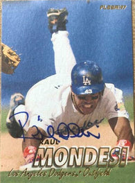 Raul Mondesi Signed 1997 Fleer Baseball Card - Los Angeles Dodgers
