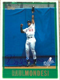 Raul Mondesi Signed 1997 Topps Baseball Card - Los Angeles Dodgers