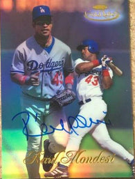 Raul Mondesi Signed 1998 Topps Gold Label Baseball Card - Los Angeles Dodgers