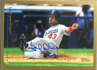 Raul Mondesi Signed 1999 Topps Baseball Card - Los Angeles Dodgers
