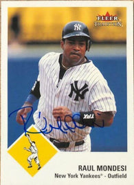 Raul Mondesi Signed 2003 Fleer Tradition Baseball Card - New York Yankees