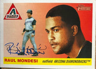 Raul Mondesi Signed 2004 Topps Heritage Baseball Card - Arizona Diamondbacks