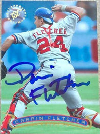 Darrin Fletcher Signed 1996 Stadium Club Baseball Card - Montreal Expos
