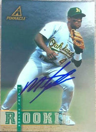 Miguel Tejada Signed 1998 Pinnacle Plus Baseball Card - Oakland A's