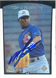 Miguel Tejada Signed 1998 SP Top Prospects Baseball Card - Oakland A's
